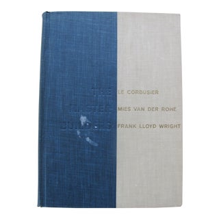 "1960s ""The Master Builders"" Corbusier Van Der Rohe F L Wright by Peter Blake 1st Edition Book For Sale"