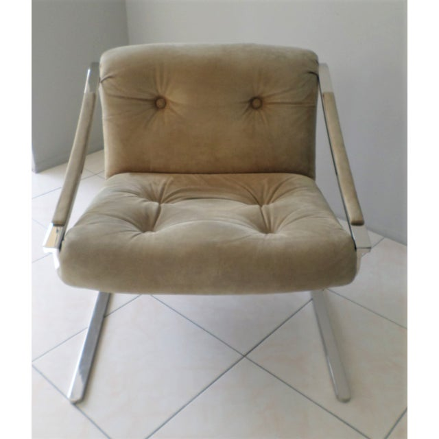 The Plaza chair was designed by Charles Gibilterra for Brueton in the 1970's. This chair was purchased from an estate in...