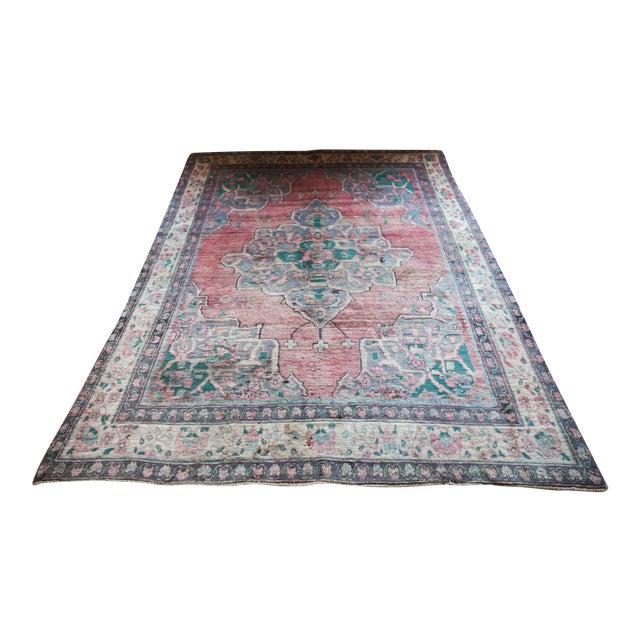 Vintage Handmade Persian Lilihan Rug - 5'1 x 7'9 - Image 1 of 11