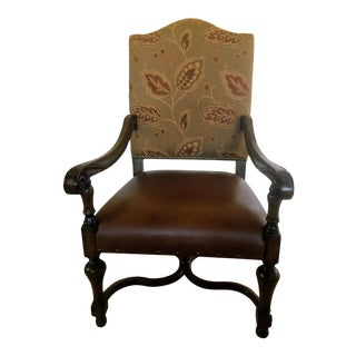 Spanish Louis XIV Style Arm Chair For Sale