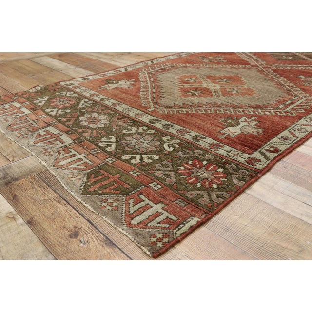 Vintage Turkish Oushak Runner - 3′6″ × 13′1″ For Sale In Dallas - Image 6 of 10