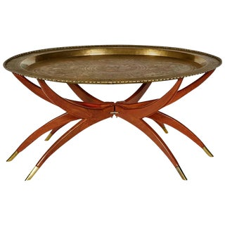 Drexel Heritage Grand Tour Faux Bamboo Side Table