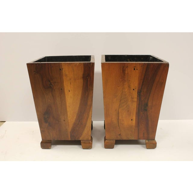 Hand made wood waste basket in style of George Nakashima. Listed price is for each basket.