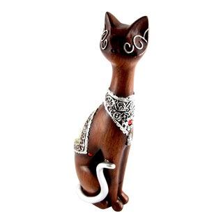Vintage Solid Resin Cat Figurine For Sale