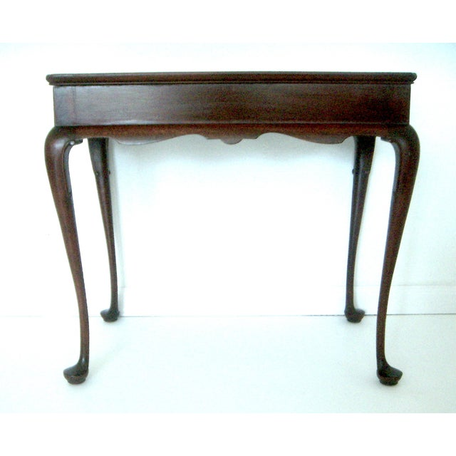 Biggs Pembroke Chippendale Style Side or Tea Table With Leaves For Sale - Image 4 of 8