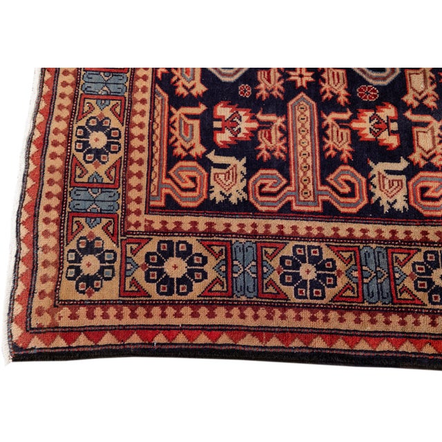 """1960s Vintage North West Persian Rug, 4'7"""" X 10'1"""" For Sale - Image 5 of 9"""