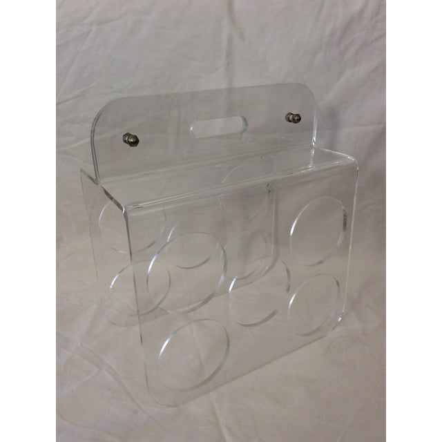 1970's Lucite Five (5) Bottle Wine Rack For Sale - Image 4 of 4