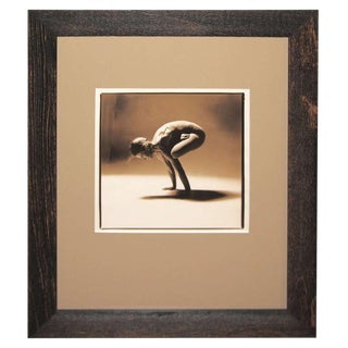 """Woman in a Yoga Position"" Sepia Toned Photograph For Sale"