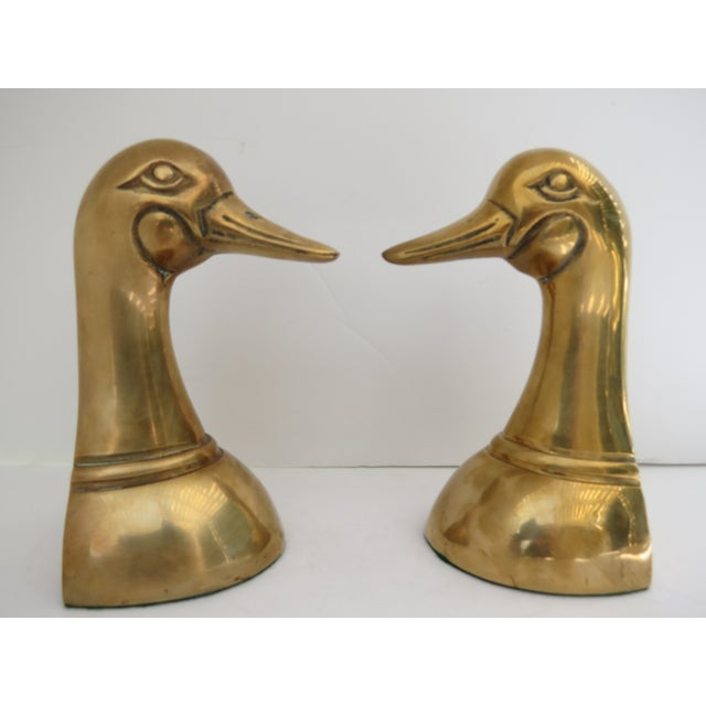 Brass Mallard Bookends - A Pair - Image 3 of 6