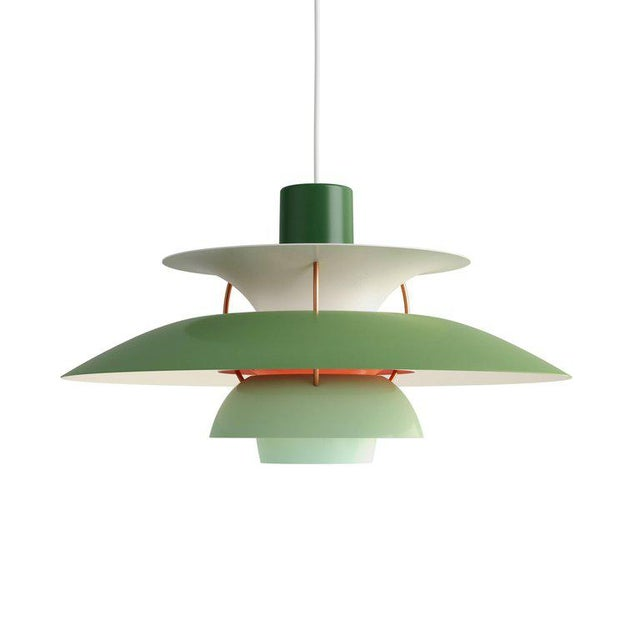 Poul Henningsen Ph 5 Pendant for Louis Poulsen in Orange For Sale In Los Angeles - Image 6 of 13