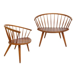 Pair of Yngve Ekström 'Arka' Lounge Chairs For Sale