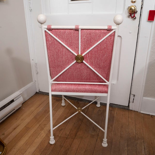 Painted Metal Dining Chairs - Set of 6 For Sale - Image 11 of 12