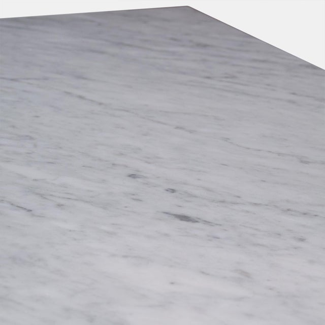 Italian Carrara Marble-Top Coffee Table For Sale In San Francisco - Image 6 of 7