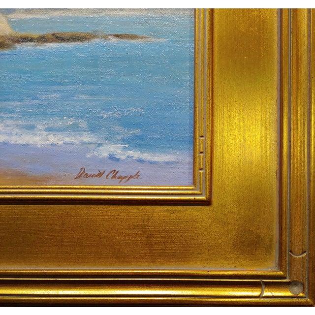1980s David Chapple -Panoramic View of Laguna Beach California -Oil Painting For Sale - Image 5 of 8
