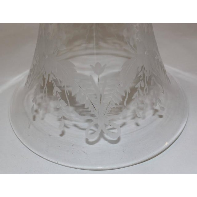 19th Century French Ormolu Metal Etched Glass - Image 6 of 10