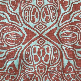 Coral Quadrille Textile Fabric- 1.3 Yards