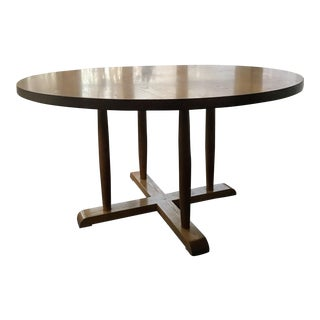 Vintage Nichols & Stone Round Dining Table For Sale