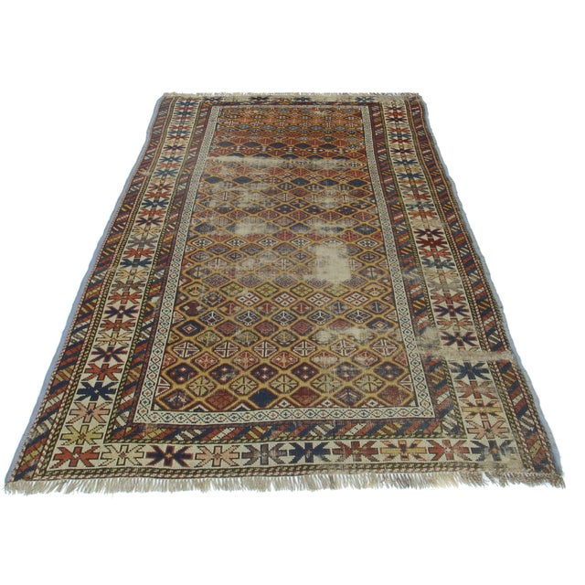 Rugsindallas Vintage Persian Design Wool Area Rug: RugsinDallas Antique Hand Knotted Wool Russian Rug- 3′3