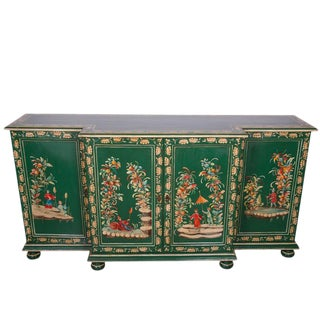 Mid-20th Century English Painted Breakfront Credenza