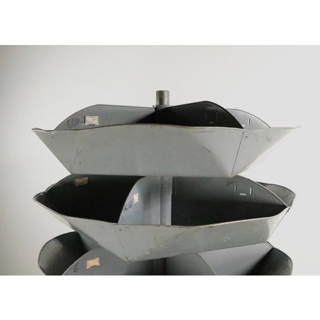 Mid 20th Century Industrial Rotating Storage Bin by Frick and Gallagher For Sale - Image 5 of 10