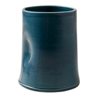 Contemporary Handmade Ceramic Traci Tumbler - Azure For Sale