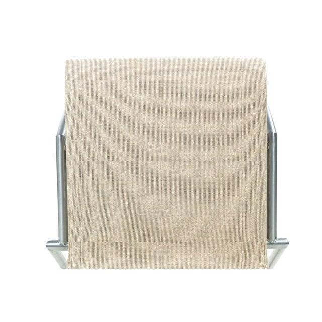 Danish Modern Brushed Steel Side Chair by Kvist - Image 7 of 11