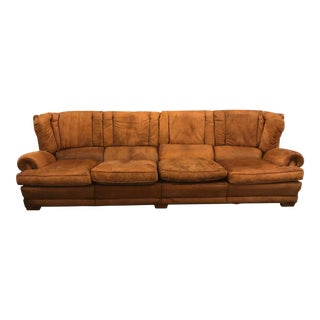 Large Leather Sofa For Sale