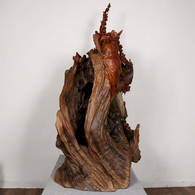 Carved Root Sculpture - Image 4 of 11