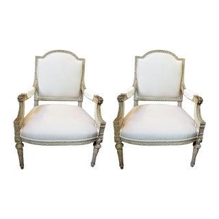 19th Century Pair of Louis XVI Style Fauteuils