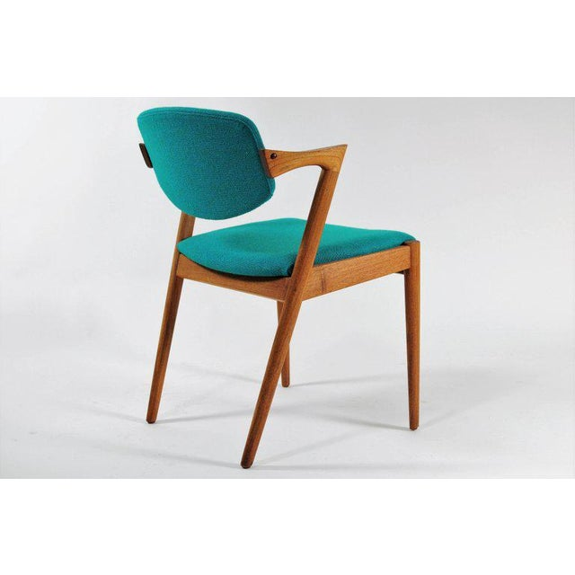 1960s 1960s Scandinavian Modern Kai Kristiansen Model 42 Teak Dining Chair For Sale - Image 5 of 8