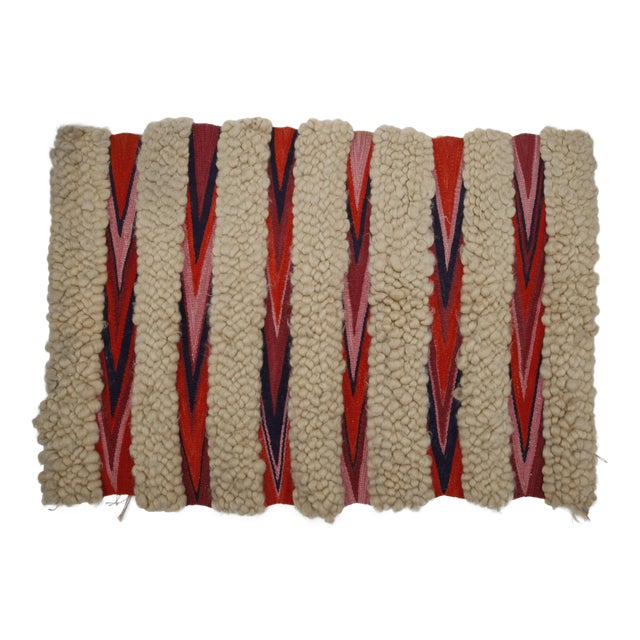 1960s Vintage Wool & Flatweave Wall Hanging - Image 1 of 4