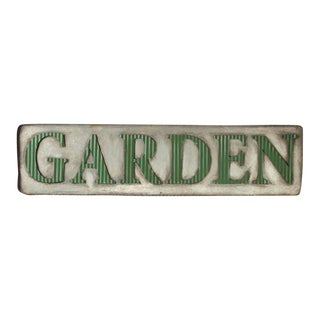 Distressed Galvanized Garden Sign