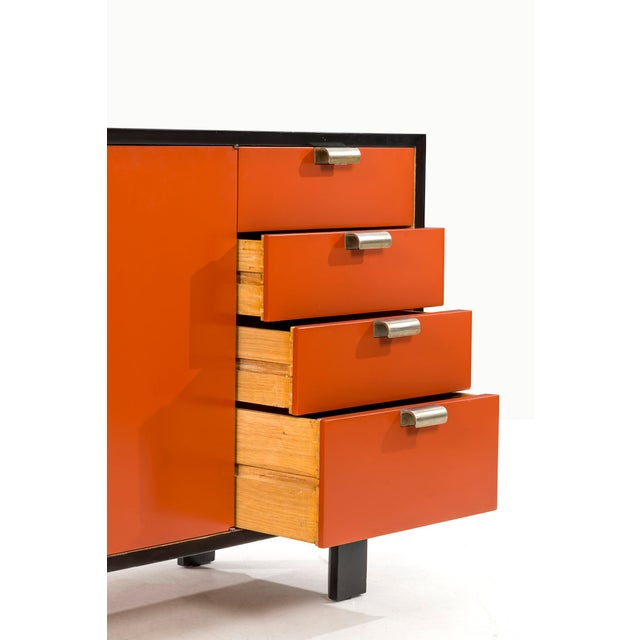George Nelson Orange Credenza For Sale - Image 9 of 13