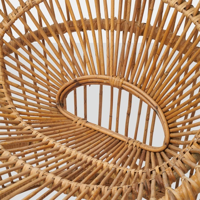 1950s Franco albini rattan chair For Sale - Image 5 of 6