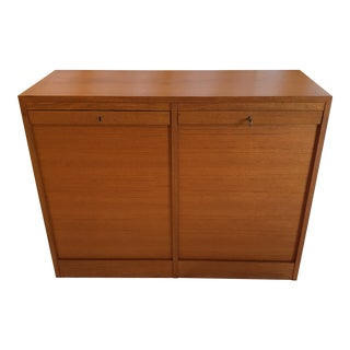 Double Tabour Door Danish Teak Buffet For Sale