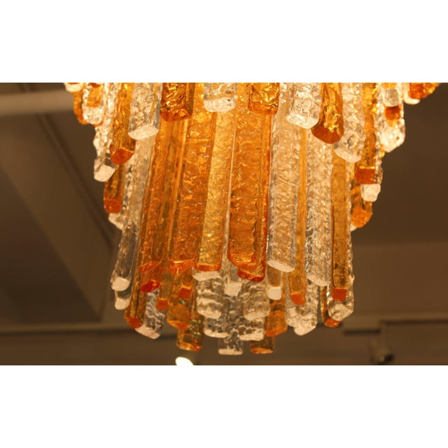Mid 20th Century Large 1960s Venini Chandelier For Sale - Image 5 of 10