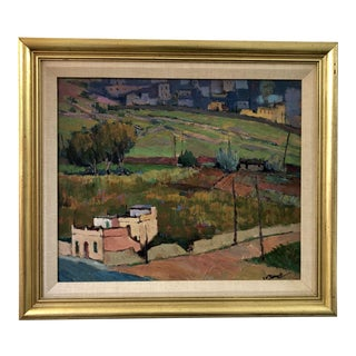 Italian Landscape, Oil on Canvas For Sale