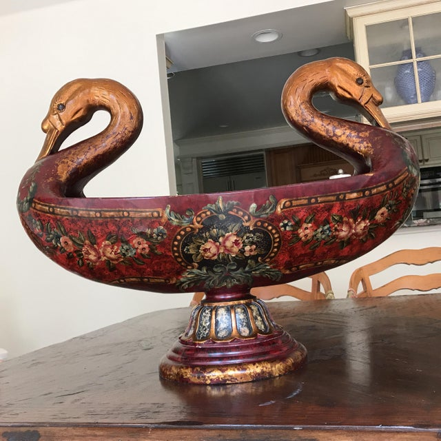 Double Headed Swan Wood Urn For Sale - Image 9 of 9