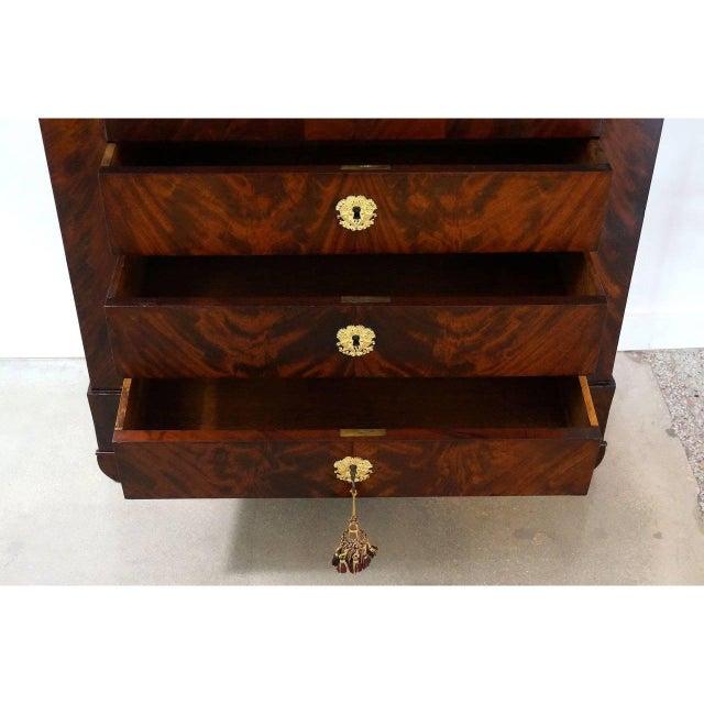 Mid 19th Century Antique 1852 French Empire Secretaire Abattant Secretary Desk For Sale - Image 5 of 12