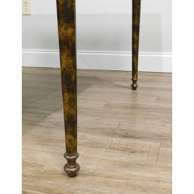 Maitland Smith Neo-Classical Square Marble Top Bronze and Iron Game Table For Sale - Image 10 of 13
