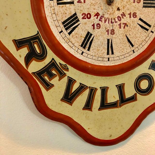 Vintage Tolework Chocolate Revillon Clock For Sale - Image 4 of 10