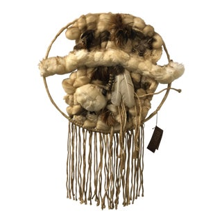 Don Freedman Macrame Dreamcatcher Wall Hanging