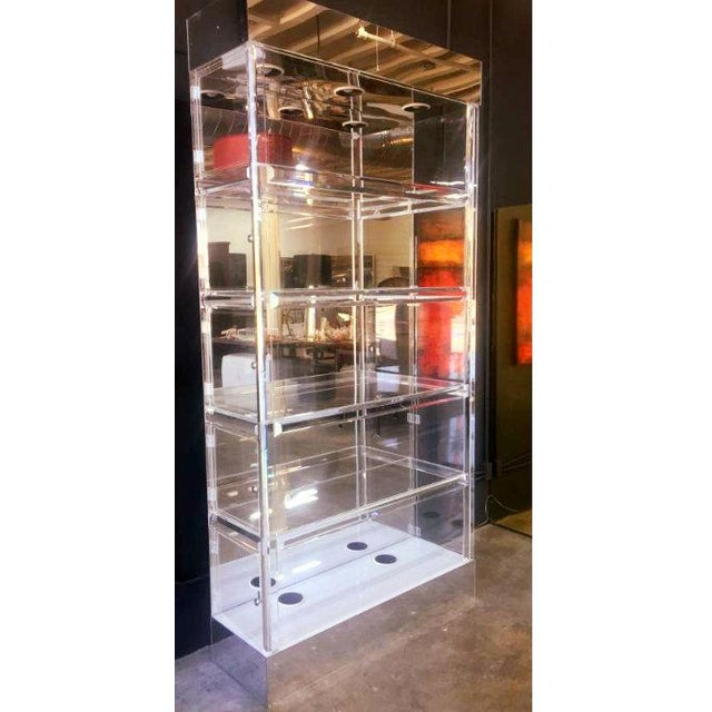 Mid-Century Modern Lucite Display China Storage Display Curio Etagere For Sale - Image 4 of 8