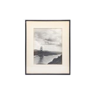 Antique Framed Photograph of Golden Gate Bridge in San Francisco For Sale