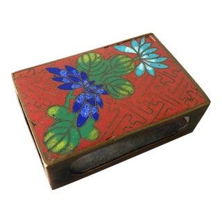 Art Deco Chinese Cloisonne Match Safe For Sale
