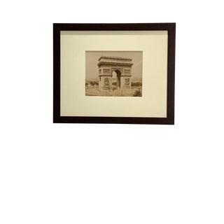 Antique Photograph of the Arc De Triomphe For Sale