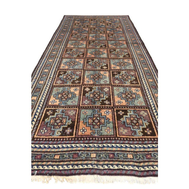 Contemporary Vintage Shiraz Persian Rug with Mid-Century Modern Style For Sale - Image 3 of 8