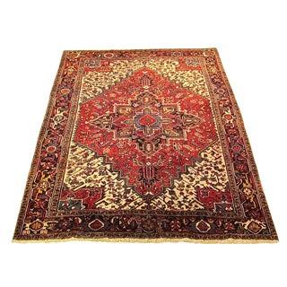 Shiraz - 1970s Vintage Persian Heriz Wool Rug - 7′7″ × 9′11″ For Sale