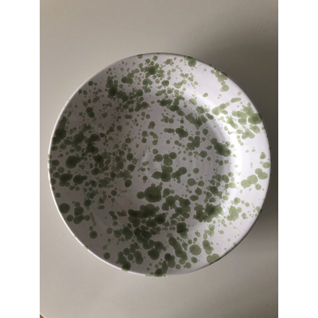 2010s Penny Morrison Green Speckled Ceramic Plates - Set of 4 For Sale - Image 5 of 9