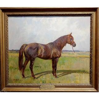 Peter Biegel -Matador , Portrait of a Horse -Oil Painting Preview
